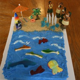 Hawaiian Beach Cake