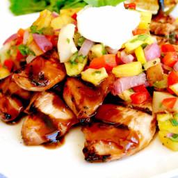 Hawaiian Grilled Chicken Teriyaki with Pineapple Jicama Salsa