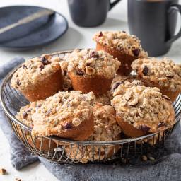 Hazelnut-Banana Sour Cream Muffins