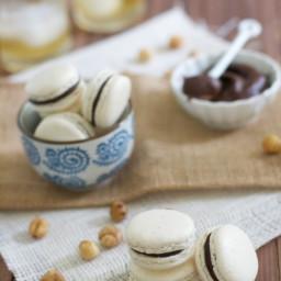Hazelnut Macarons with Chocolate Frangelico Ganache