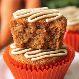 Healthier Carrot Cake Cupcakes (grain-free, gluten-free, paleo and dairy-fr