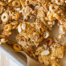 Healthier Coconut Almond Chex Mix