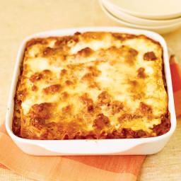 Healthier Meat Lasagna