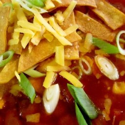 Healthier Slow-Cooker Chicken Tortilla Soup