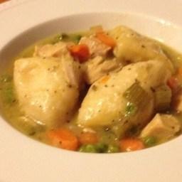 Healthier Slow Cooker Chicken and Dumplings