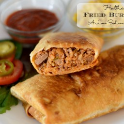 Healthier Turkey and Brown Rice Fried Burritos