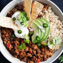 Healthier turkey chilli con carne