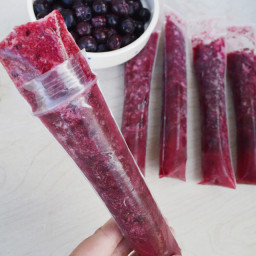 HEALTHY 3 Ingredient Popsicle - Pineapple Blueberry