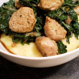 Healthy and Delicious: Swiss Chard and Turkey Sausage Over Polenta Recipe