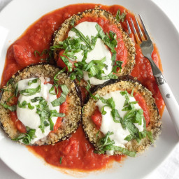 Healthy and Easy Baked Eggplant Parmesan