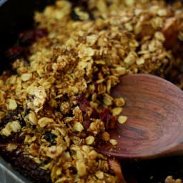 Healthy Apple Blackberry Crisp (gluten free and vegan)