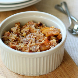 Healthy Apple Crumble for One