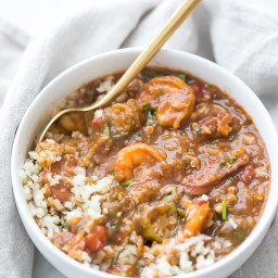 Healthy Authentic Seafood Gumbo (Gluten-Free, Paleo, Whole30)