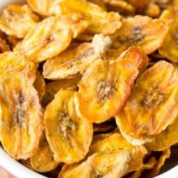 Healthy Baked Banana Chips