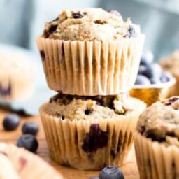 Healthy Banana Blueberry Muffins Recipe (Gluten-Free, Vegan, Dairy-Free, Re