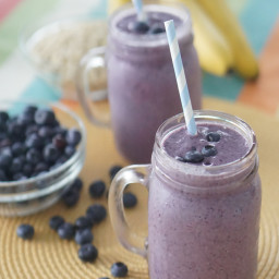 Healthy Blueberry Cobbler Smoothie