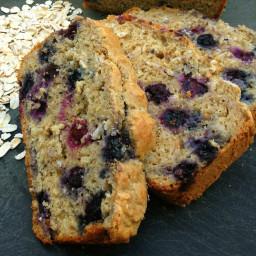 Healthy Blueberry Oatmeal Bread