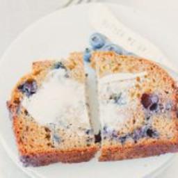 healthy blueberry zucchini bread