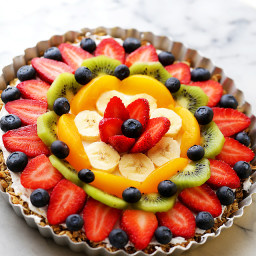 tropical fruit salad healthy fruit pizza crust