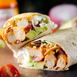 Healthy Buffalo Chicken Wrap