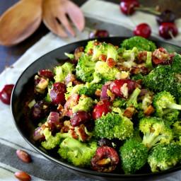 Healthy Cherry Almond Broccoli Salad