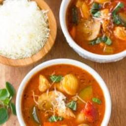 Healthy Chicken Cacciatore Soup