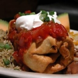Healthy Chicken Chimichanga