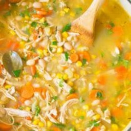 Healthy Chicken White Bean Soup