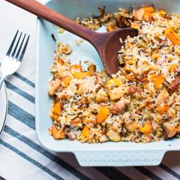 Healthy Chicken Wild Rice Casserole