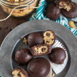 Healthy Cookie Dough Filled Chocolate Cups (GF)