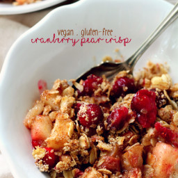Healthy Cranberry Pear Crisp (Gluten-Free and Vegan)