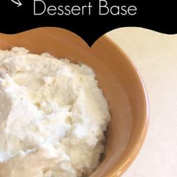 HEALTHY! Cream Cheese Dessert Base