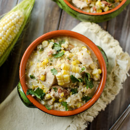 Healthy Crock Pot Jalapeno, Chicken and Sweet Corn Soup