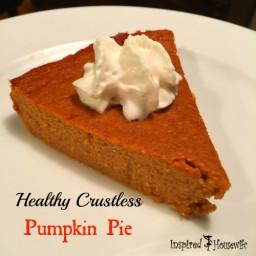 Healthy Crustless Pumpkin Pie