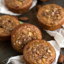 {Healthy + Flourless} Almond Apple Muffins