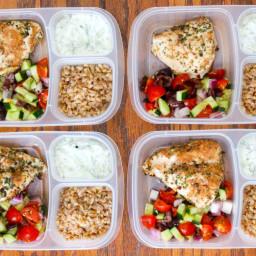 Healthy Greek Chicken Meal Prep Bowls