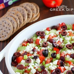 Healthy Greek Dip {Gluten Free}