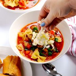 Healthy Lasagna Soup (Instant Pot or Stovetop)