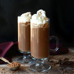 Healthy Maple Sea Salt Hot Chocolate