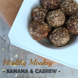 Healthy Monkey Banana and Cashew Energy Balls