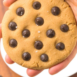 Healthy No Bake 3 Ingredient Low Carb Giant Cookie for One