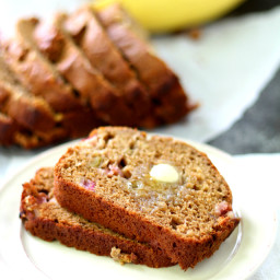Healthy Rhubarb Banana Bread