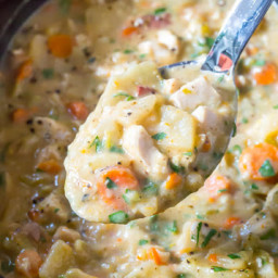 Healthy Slow Cooker Chicken Potato Soup