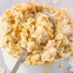 Healthy Slow Cooker Salted Caramel Oatmeal