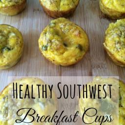 Healthy Southwest Breakfast Muffins