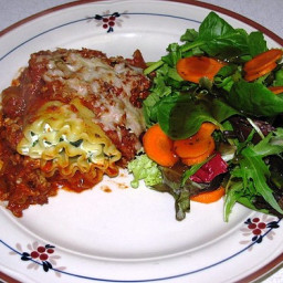 Healthy Turkey and Spinach Lasagna Rolls