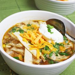 Healthy Turkey Tortilla Soup