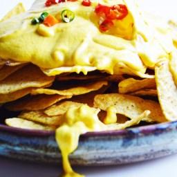 Healthy Vegan Cheesy Nacho Sauce