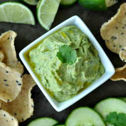 Healthy White Bean Dip with Avocado and Cilantro