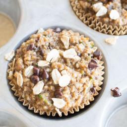 Healthy Zucchini Muffins with No Flour, No Sugar & No Oil